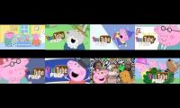 8 peppa pig ytps at once (includeing mine)