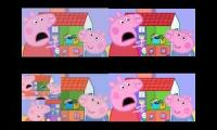 Peppa Pig Screaming Sparta remix quadparison