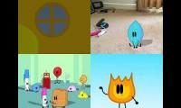 Battle for BFDI Club but 4 videos together