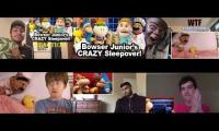 SML Movie: Bowser Junior's Crazy Sleepover Reaction Mashup