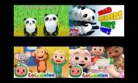 Cocomelon/ABC Kids TV Head Shoulders Knees And Toes Comparison