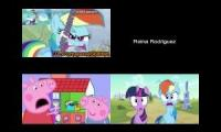 MLP vs Peppa Pig Sparta Remixes Side By Side