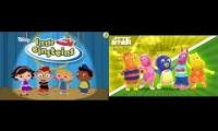Childhood remixes that include wonderpets and backyardigans