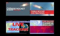Thumbnail of out of control falling chinese rocket live